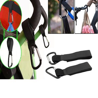 Popular 2pcs Stroller Hooks Wheelchair Pram Carriage Bag Hanger Baby Bag Clip CN
