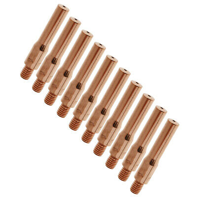 10 Pieces 45mm Welder Contact Thread Nozzle Tip for Gas Shielded Weld Parts