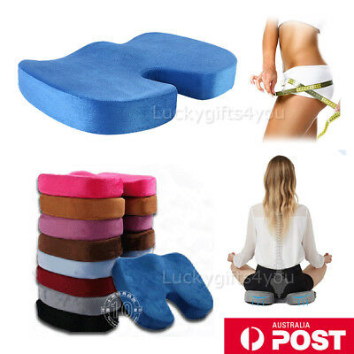 Memory Foam Gel Cushion coccyx seat pillow Office Chair Car seat Stress Relief H