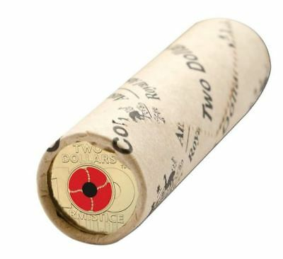 2018 $2 REMEMBRANCE DAY ARMISTICE Mint Roll