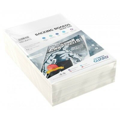 Ultimate Guard Silver Age Size Comic Backing Boards Rigid 26pt 100ct 178 x 266mm