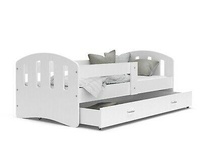 Children Toddler Single Happy Bed For Kid +Drawer +Mattress +Free Fast Delivery