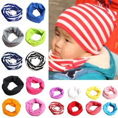 Kids Baby Boys Girls Cotton Scarf Neck Shawl Neckerchief Winter Warm Scarves