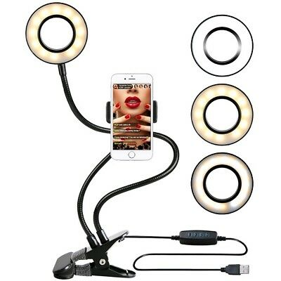 Desk LED Ring Light Photography Selfie Light Photo Phone Camera Video Studio
