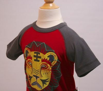 TEA NWT Boys 100% Cotton S/S Graphic T-shirt Red Gray Yellow Sz 3-6 mo