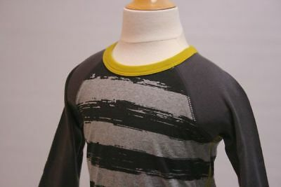 TEA NWT Boys 100% Cotton L/S Baseball T-shirt Black Gray Laser Lemon Sz 6-12 mo
