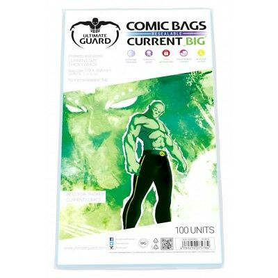 Ultimate Guard BIG Current Resealable Comic Bags Sleeves 100ct Size 178 x 268mm