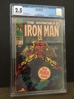 Invincible Iron Man #1 (May 1968, Marvel) CGC GRADED 2.5 * CLASSIC * KEY ISSUE