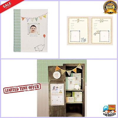First 5 Years Baby Record Memory Book Photos Album Scrapbook Illustrated Pages