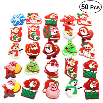 50PCS Christmas Flashing Brooch Pins LED Brooch Kids Party Flashing Light Brooch
