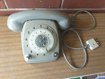 Vintage GREY  Rotary Dial Telephone   VOLUME DIAL  SWITCH