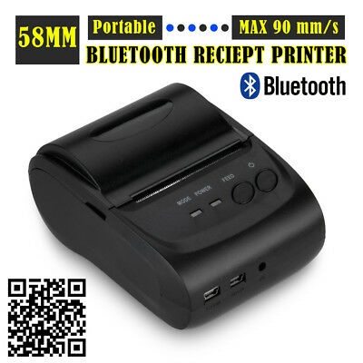 Portable Wireless Bluetooth USB 58mm Thermal Dot POS Receipt Printer For Android