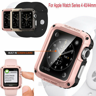 For Apple Watch Series 4 3 2 1 Spigen [Tough Armor] Shockproof Case TPU Cover