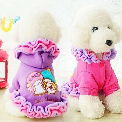 XXS-L Pet Dog Cat Puppy Winter Warm Cotton Sweater Hoodie Coat Costume Apparel