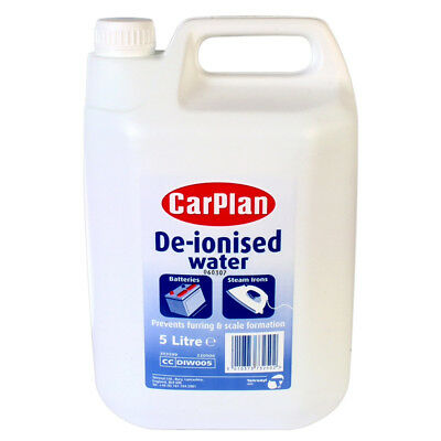 Carplan De-Ionised Water For Batteries & Steam Irons 1L 2.5L 5L