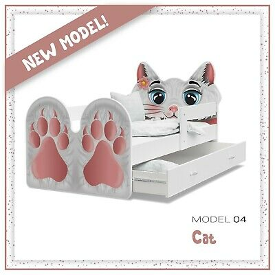 Lovely Kitty Bed for Kids & Children +Mattress +Drawer +Barriers +Free Delivery