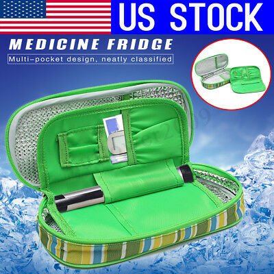 US Portable Medicine Diabetic Insulin Cooling Pouch Ice Cooler Bag Travel Case