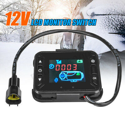 12V Car Truck Diesel Air Heater Controller LCD Monitor Switch Remote Control
