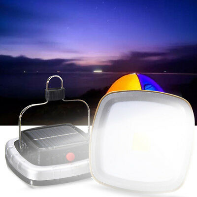 Solar Portable Rechargeable LED Lantern Outdoor Garden Camping Tent Light Lamp