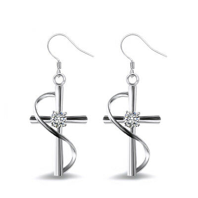 Fashion Drop Earrings for Women 925 Silver Filled White Sapphire Jewelry A Pair