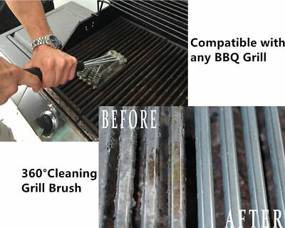 BBQ Cleaner Cleaning Grill Brush Wire Brush Stainless Steel Cooking Tool Outdoor