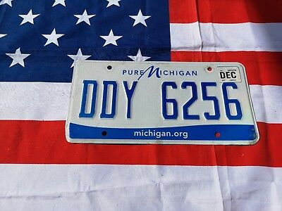 Plaque d'immatriculation Michigan DDY 6256 Us Usa license plate