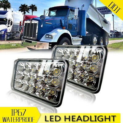 2* LED Headlights Beam Fit Kenworth T400 T600 T800 W900BW900L Classic 120/132 US