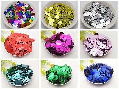 60Gram 5mm 6mm 8mm 10mm 12mm Flat Round Loose Sequins Paillettes sewing Wedding