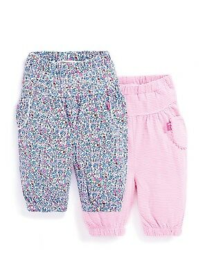 Ex JoJo Maman Bebe Baby Girls Trousers Pants 3 6 9 12 18 24 Mths RRP £10