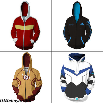 Detroit: Become Human Zip Sweater Hoodie Sweatshirt Long sleeve Leisure Costume