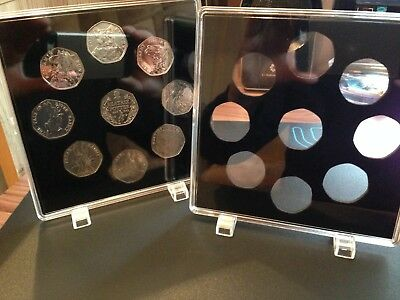 ACRYLIC COIN DISPLAY CASE (1pcs) FOR BEATRIX POTTER 50p SET (9 slots).no coins.