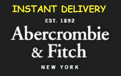 2812359408 TWO Abercrombie Fitch $10 off $50 Coupon Code A&F Kids SALE CLEARANCE  *INSTANT*
