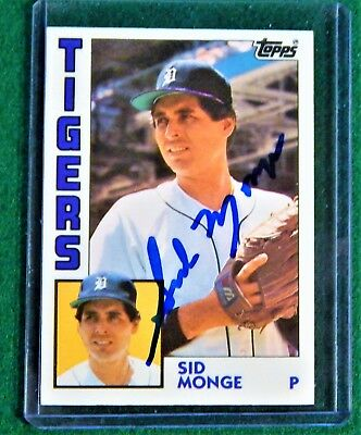 Sid Monge Autographed Signed 1984 Topps #80T Detroit Tigers