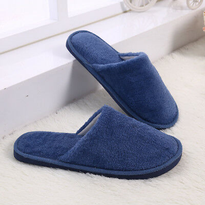 Men Cotton Plush Warm Slippers Home Indoor Winter Slippers Shoes