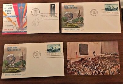 New York World's Fair Lot of  First Day Covers and Postcards 1962 1964 1965