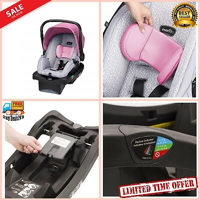 Safety 35 Infant Baby Toddler Car Seat Carrier Kids Chair w Buckle Pockets