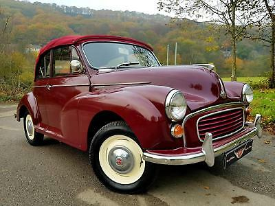 MORRIS MINOR 1000 Convertible, Stunning in Maroon B with New Biscuit interior!