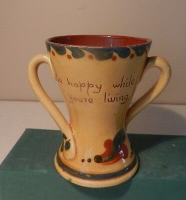 Two Handled Waisted Mug With Motto From Aller Vale Torquay
