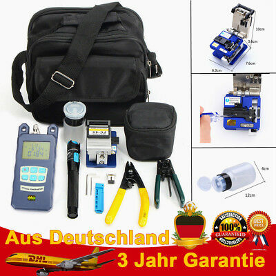 Fiber Optical FTTH Tool Kit FC-6S Fiber Cleaver Power Meter Visual Loctor DHL
