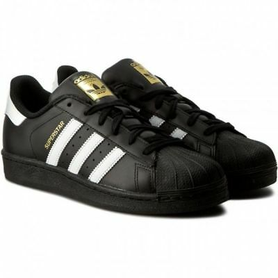 big sale 55470 73adb ADIDAS SUPERSTAR FOUNDATION # B27140 Black & White Men SZ 7.5 - 13