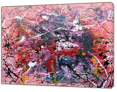 JACKSON POLLOCK THE KEY OIL PAINT PICTURE RE PRINT ON FRAMED CANVAS WALL ART