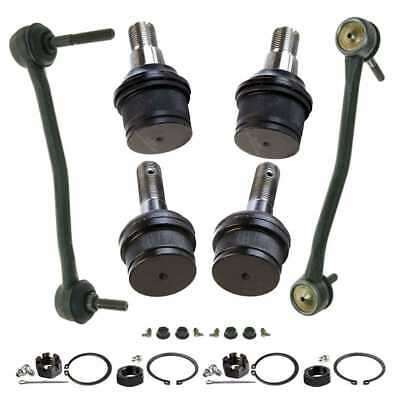 Front (4) Ball Joint (2) Sway Bar Fits 2000-2004 Ford F-250 Super Duty SUSPKG647