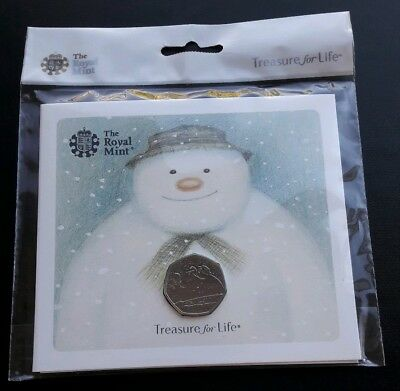 2018 Royal Mint 40th Anniversary of The Snowman 50p Fifty Pence BUNC Coin Pack