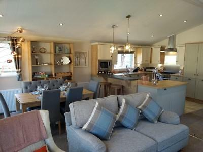Luxury lodge holiday home sited decking South Devon Plymouth Salcombe