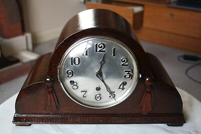 Vintage Art Deco Westminster/Whittington Dual Chime Clock, Restored/Overhauled
