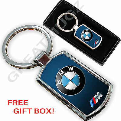 Bmw Car Keyring Key Chain Ring Fob Chrome Metal Unique Design ,,