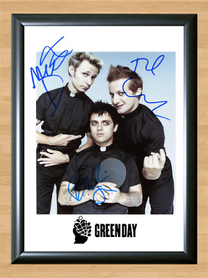 Green Day American Idiot Dookie Signed Autographed A4 Photo Poster Memorabilia