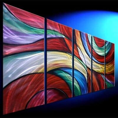 METAL WALL SCULPTURE PAINTING Original Abstract Art  Home Decor  Hand Made 1023