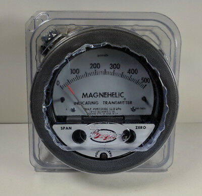 Dwyer 605-500PA Magnehelic Differential Pressure Indicating Transmitter
