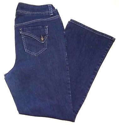 Lane Bryant Womens Jeans Size 16 Boot Cut Dark Wash Denim Blue Mid Rise Pants
